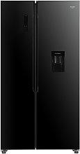 Bush MSBSWTDB20 American Fridge Freezer - Black