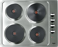 Bush RL60SPH Electric Solid Plate Hob - Stainless