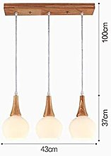 Busirsiz Pendant Lamps Solid Wood Dining Room