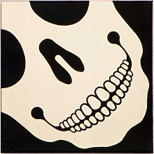 Bussoga - Skull Ceramic Pot Coaster - White/Black
