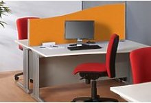 BusyScreen Vibrant Wave Desktop Screen, Orange