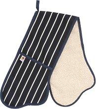 Butchers Stripe Navy Double Oven Glove