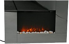 Bute - Cheap Black Electric Fireplace for the Wall