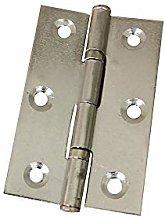 Butt Door Hinge 2Pcs 2.5 Inch Stainless Steel