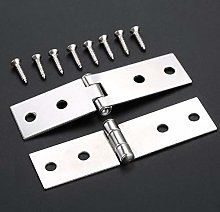 Butt Hinges 2Pcs Cabinet Door Luggage Hinges 4