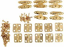 Butt Hinges 5Pcs Antique Gold Jewelry Wooden Box