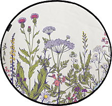 Butter Kings Round Rug - All meadow flowers