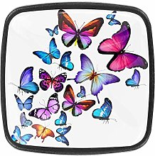 Butterflies Families 4pcs Colorful Crystal Glass