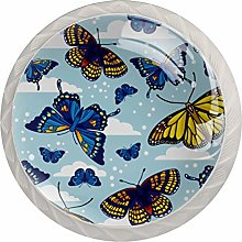 Butterfly (3) 4 Packs Kitchen Cabinet Knobs,Pulls