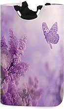 Butterfly and Lilac Organ Bush Laundry Hamper