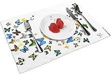 Butterfly Backgrounds Desktop Table mat 4 piece