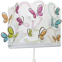 Butterfly children's wall light, cable and plug
