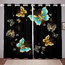 Butterfly Curtain for Bedroom Children Butterflies