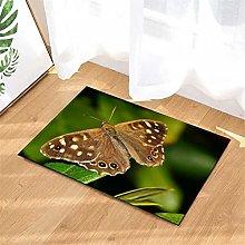 Butterfly. Door Mat Front Door Carpet Non-Slip