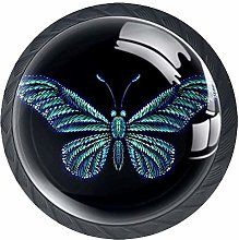 Butterfly for Tattoo Solid Kitchen Cabinet Knobs