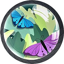 Butterfly Green Cabinet Hardware Knob Glass Pack