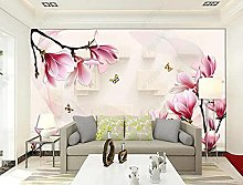 Butterfly Magnolia Murals 3D Wallpaper Decorative