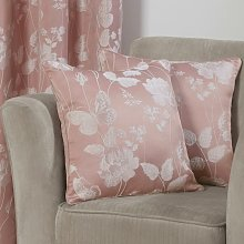 Butterfly Meadow Cushion Cover Blush 17x17'