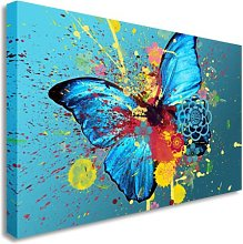 Butterfly Oil Painting Artwork Splash Wall Picture