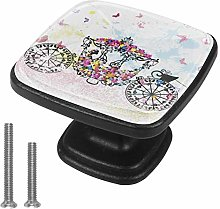 Butterfly Princess Carriage Drawer Knob for Home