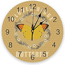 Butterfly PVC Wall Clock, Silent Non-Ticking