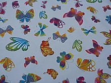 Butterfly Rainbow Multi Colours Vinyl PVC Dining