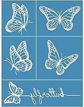 Butterfly Self-Adhesive Silk Screen Printing