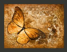 Butterfly Sepia 1.54m x 200cm Wallpaper East Urban