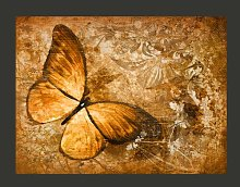 Butterfly Sepia 1.93m x 250cm Wallpaper East Urban