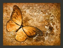 Butterfly Sepia 2.31m x 300cm Wallpaper East Urban