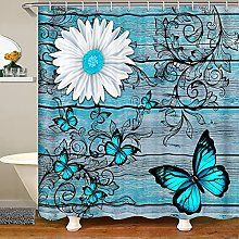 Butterfly Shower Curtain For Girls Teens Women