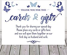 Butterfly Sign For Cards and Gifts Wedding Table