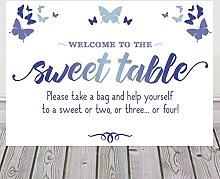 Butterfly Sign For Sweet Table Candy Buffet