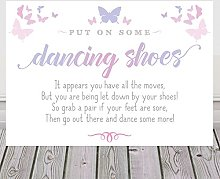 Butterfly Sign For Wedding Dancing Shoes Available
