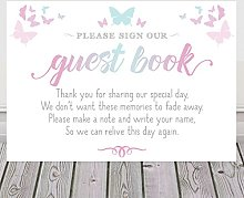 Butterfly Sign For Wedding Guest Book Available In