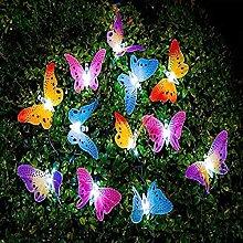 Butterfly Solar String Lights Outdoor, Berocia 24