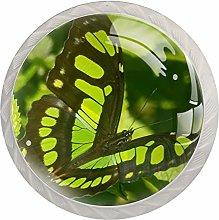 Butterfly Spring Black Green White Drawer Handles