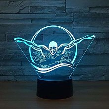 Butterfly Stroke 3D Lamp 7 Color LED Night Lamps