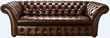 Buttoned Seat Chesterfield 3 Seater Balmoral