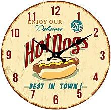 BUVU VM14S1139 Glass Wall Clock, Brown, 34 x 34 x