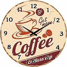 BUVU VM15A1358 Glass Wall Clock, Brown, 34 x 34 x