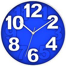 BUVU Wall Clock, Blue, 30 x 30 x 5 cm