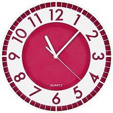 BUVU Wall Clock, red, 30 x 30 x 5 cm