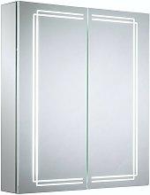 Buxton diffused LED illuminated mirror cabinet 700