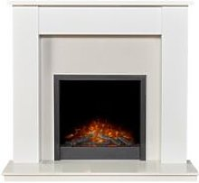 Buxton Pure White & White Marble Fireplace with