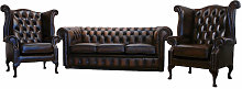 Buy 3+1+1 leather sofas suite handmade in