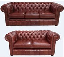 Buy chestnut leather 3+2 suite Order free