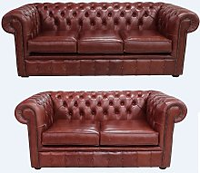 Buy chestnut leather 3+2 suite|Order free