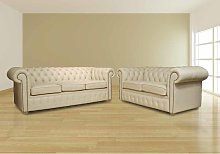 Buy Cream Leather Sofa Suite|Free Leather