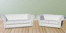Buy Living Room Sofas | white chesterfield leather